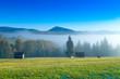 Carpathian mountain sunny landscape