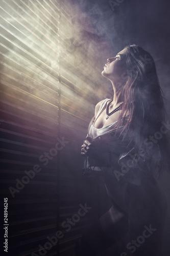 fototapeta na ścianę Girl silhouette