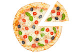 Pizza Margherita Stück Diagramm Statistik Info Freisteller freigestellt isoliert - 248955450