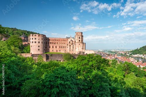 Heidelberger Schloss und Altstadt, Heidelberg, Baden-Wuerttemberg, Deutschland