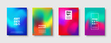 Abstract modern design background. Colorful neon gradient. Dynamic trendy colors. Eps10 vector.