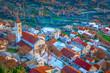 Leinwanddruck Bild - Klis village Croatia scenery.