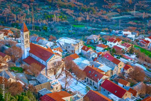 Leinwanddruck Bild Klis village Croatia scenery.
