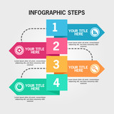 Infographic template in four steps - 248968651