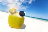Coconut milk on beach - 248969084