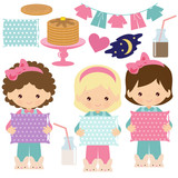 Pancakes party vector cartoon illustration - 248978816