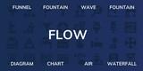 flow icon set - 249007680