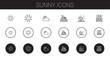 sunny icons set