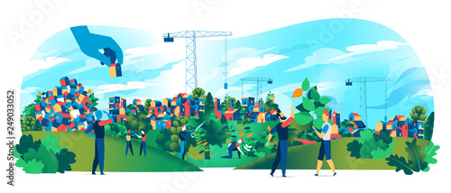 People are building a green place to live © Hurca!