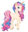 Vector cute  unicorn cartoon. - 249038212