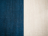 Textile fabric material, blue and white. Two colors  - 249041275