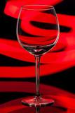Wine glass on a black background - 249044496