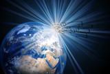 Das Erdball und weltweite Kommunikation - 249045843
