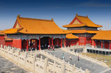 The Forbidden City, a palace complex in central Beijing, China. The former Chinese imperial palace from the Ming dynasty to the end of the Qing dynasty it now houses the Palace Museum. - 249056605