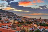 Beautiful skyline cityscape of the city Funchal on the island Madeira at sunrise in summer - 249065277