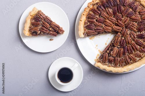 Leinwanddruck Bild Autumn american pecan pie
