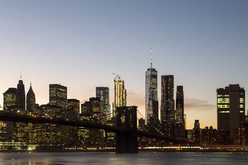 New York skyline with Brooklyn Bridge