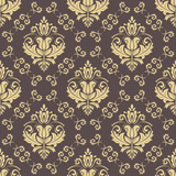 Orient vector classic pattern. Seamless abstract background with vintage golden elements. Orient background. Ornament for wallpaper and packaging - 249109221