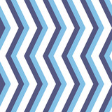 Seamless background for your designs. Modern vector ornament with blue and white zigzags. Geometric abstract pattern - 249116202