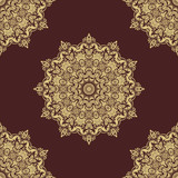 Classic seamless vector pattern. Damask orient round golden ornament. Classic vintage background. Orient ornament for fabric, wallpaper and packaging - 249116484