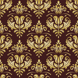 Orient vector classic pattern. Seamless abstract background with vintage elements. Orient background. Brown and golden ornament for wallpaper and packaging - 249116872