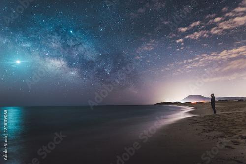 Playa en la noche
