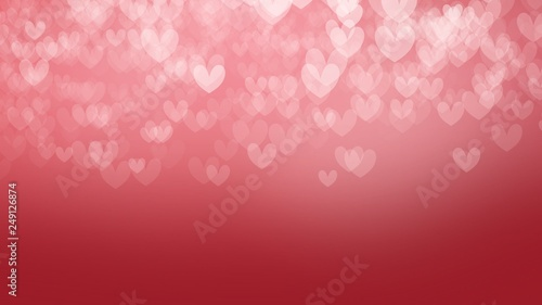 Pink and Red heart background in valentine's day - 249126874