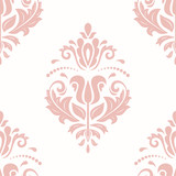 Orient vector classic pink pattern. Seamless abstract background with vintage elements. Orient background. Ornament for wallpaper and packaging - 249133418