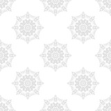 Orient vector classic gray pattern. Seamless abstract background with vintage elements. Orient background. Ornament for wallpaper and packaging - 249134089