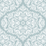 Orient vector classic pattern. Seamless abstract background with vintage elements. Orient blue and white background. Ornament for wallpaper and packaging - 249134606