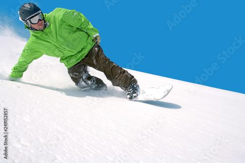 fototapeta na ścianę Snowboarding