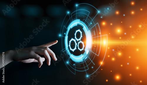 Leinwanddruck Bild Automation Software Technology Process System Business concept