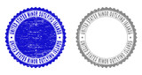 Grunge UNITED STATES MINOR OUTLYING ISLANDS stamp seals isolated on a white background. Rosette seals with grunge texture in blue and grey colors. - 249167288