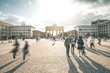 Busy Brandenburg Gate Plaza - Berlin