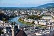 Leinwanddruck Bild - Panorama of Salzburg