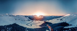 Panorama des Pyrénées au Coucher de soleil