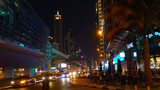 traffic in the city at night IN DUBAII