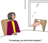 Sheep tends to become sheepish - 249209859
