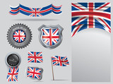 Made in Uk seal,  United Kingdom flag and color  --Vector Art-- - 249219600