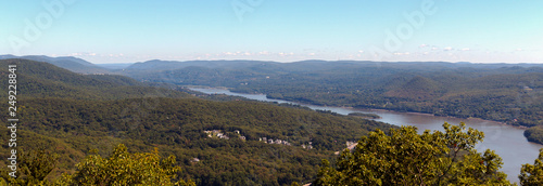 View of the Hudson River and the Surrounding Mountains - 249228841
