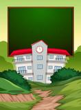A blackboard school banner - 249230278