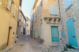 The street in the town of Gord, small charming town in Provence, France - 249230642