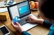 Leinwanddruck Bild - People purchsing goods e-commerce online shopping