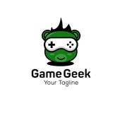Geek and Nerd Logo Character Stock Image