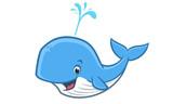 Cartoon Happy Whale - 249242423