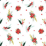 Watercolor floral pattern - 249246237