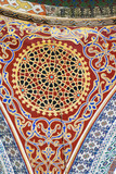Mosaic pattern in one of the domes in the ceiling of Topkapi palace, Istanbul  - 249246666