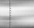 Leinwanddruck Bild - Metal brushed steel or aluminum background with rivets