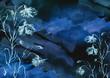 Leinwanddruck Bild - Watercolor bouquet of flowers, Beautiful abstract splash of paint, fashion illustration. knapweed flowers, wildflowers, field or garden flowers. Vintage card. Grunge art background. Watercolor style.