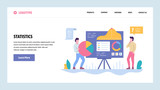 Vector web site gradient design template. Data analysis and statistics presentation. Charts and graphs. Landing page concepts for website and mobile development. Modern flat illustration. - 249252491
